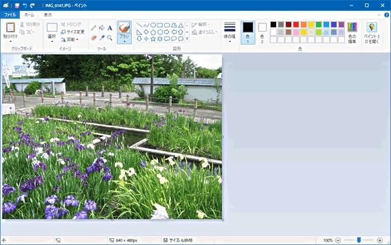 Windows10 ペイントで写真サイズを小さくする すきっぷのメモ